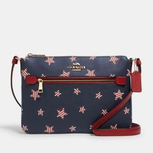 Coach Gallery File Bag With Americana Star Print